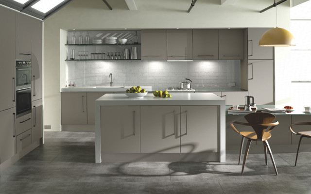 Zurfiz Ultramatt Metallic Cashmere Kitchen