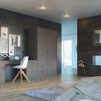 Zurfiz UM Metallic Basalt Bedroom Doors