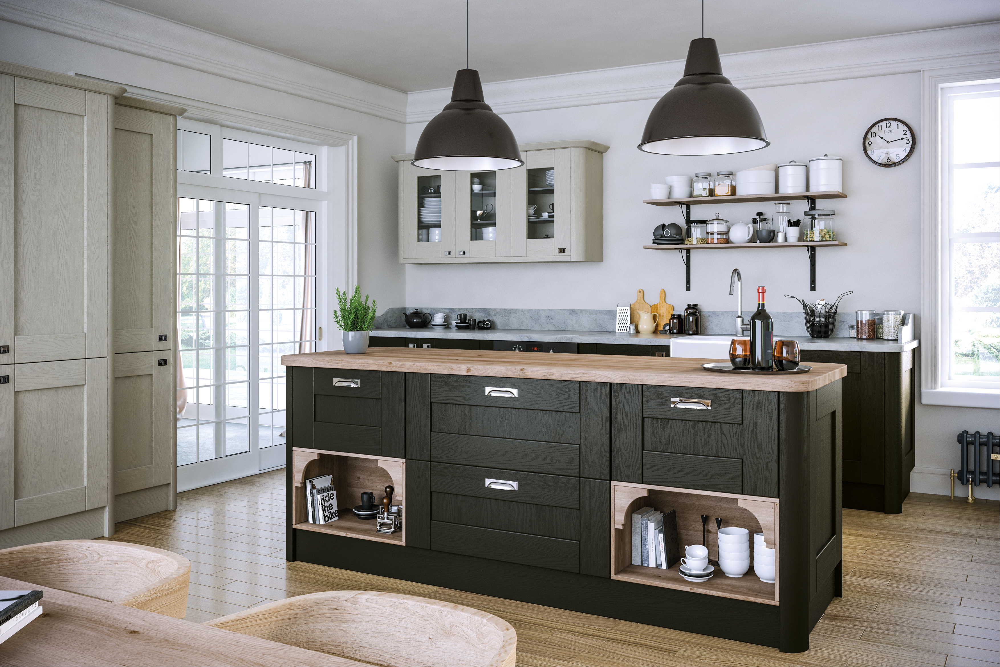 Pronto Wilton Oakgrain Graphite Kitchen Doors Doors And