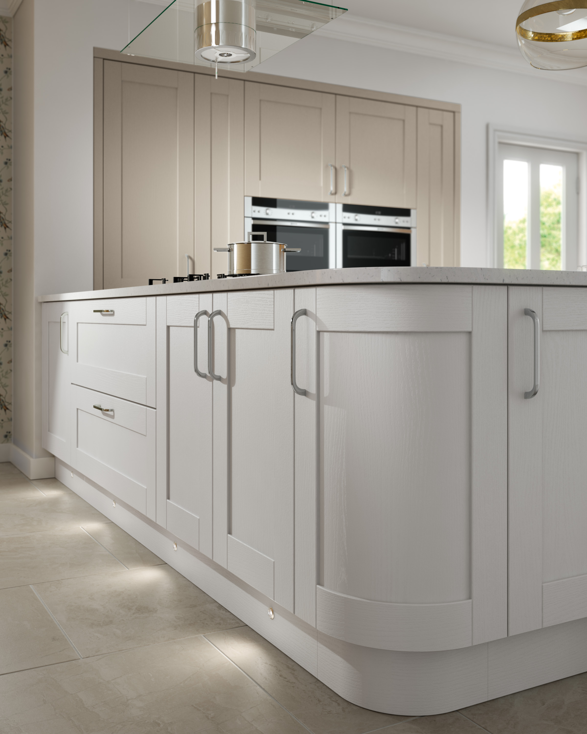 Cambridge Light Grey Kitchen Doors Doors And Handles UK - Light grey kitchen doors