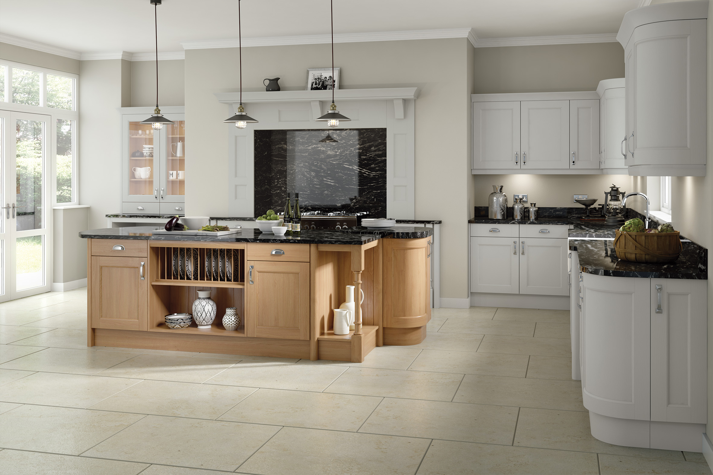 Windsor Light Grey Kitchen Doors Doors And Handles UK - Light grey kitchen doors