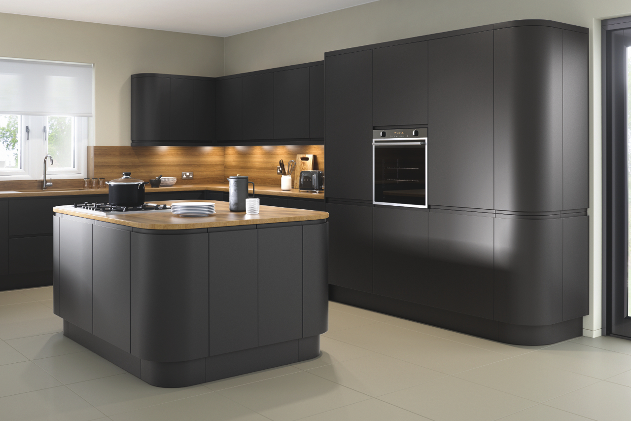 Lucente Matt Anthracite Kitchen Doors Doors And Handles Uk